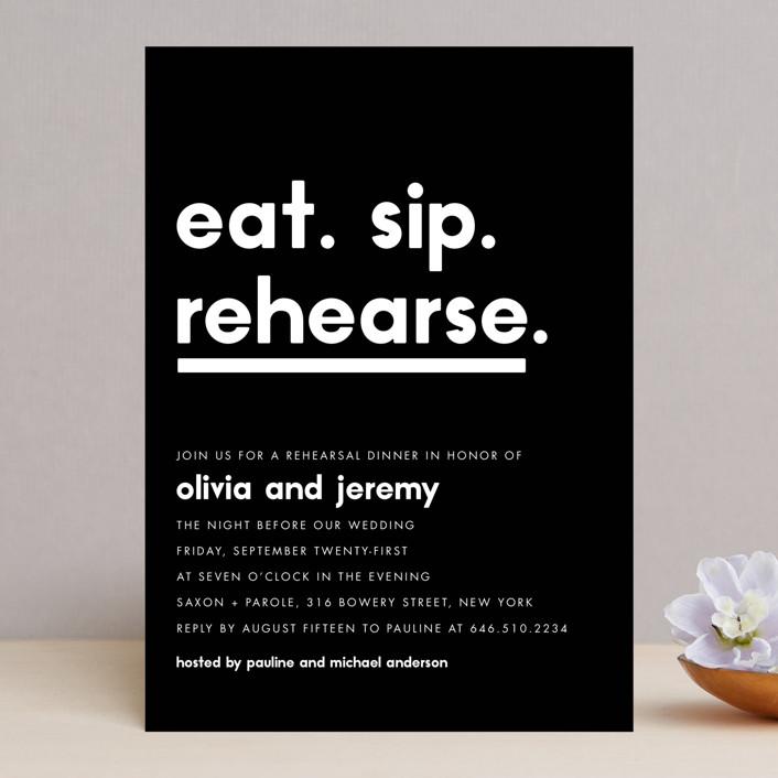 Refreshments Rehearsal Dinner Invitation