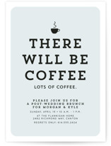 This is a green rehearsal dinner invitation by Lea Delaveris called There will be coffee with standard printing on signature in standard.