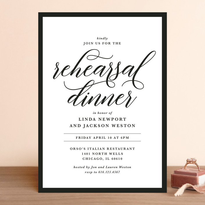 Modern Classic Rehearsal Dinner Invitations by Laura Hamm   Minted