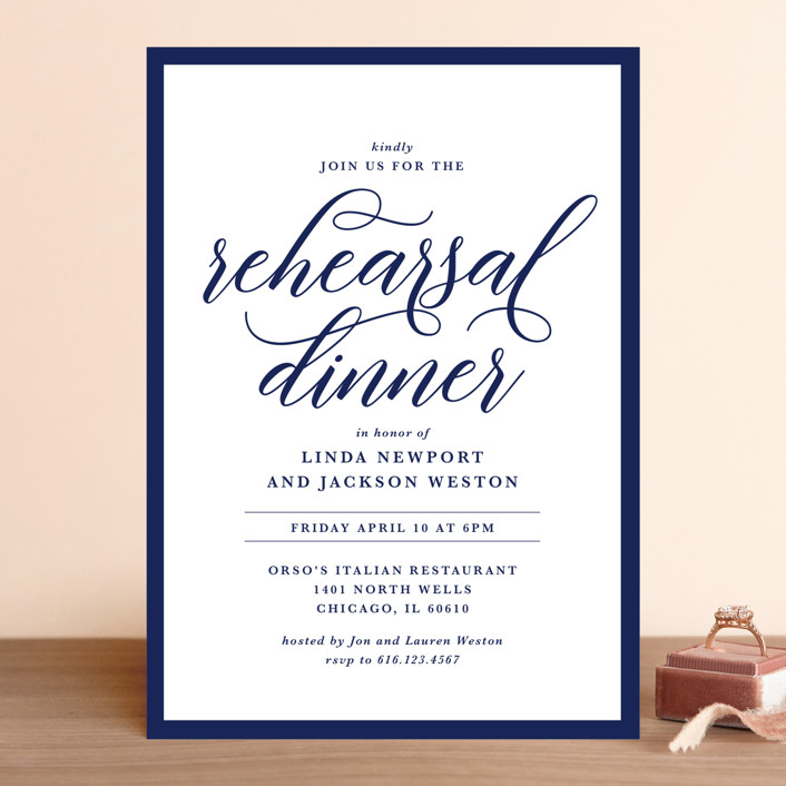 Modern Classic Rehearsal Dinner Invitation