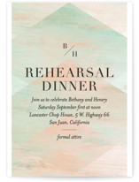 This is a green rehearsal dinner invitation by Baumbirdy called delicate edge with standard printing on signature in standard.
