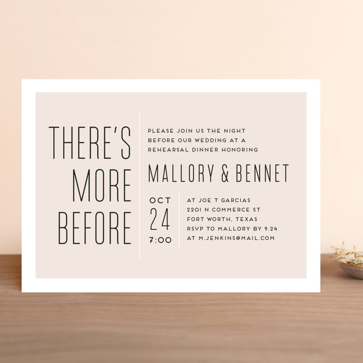 There's More Before Rehearsal Dinner Invitation