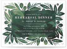This is a green rehearsal dinner invitation by Alethea and Ruth called Greenery Box with standard printing on signature in standard.