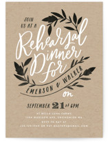 This is a black rehearsal dinner invitation by Alethea and Ruth called Casual Botanical with standard printing on signature in standard.
