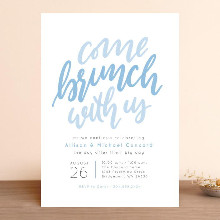 Come brunch with us Rehearsal Dinner Invitation