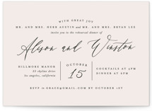 This is a beige rehearsal dinner invitation by Leah Bisch called Timeless with standard printing on signature in standard.