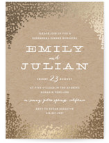 Gold Rush Foil-Pressed Rehearsal Dinner Invitations