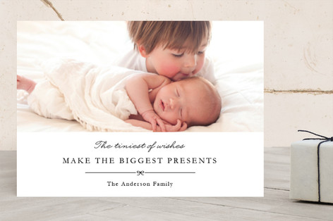 tiny wishes, big presents Christmas Photo Cards