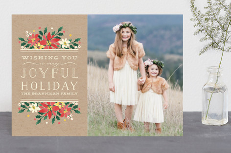 Krafted Holiday Christmas Photo Cards