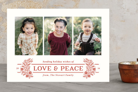 Jubilee Wreath Christmas Photo Cards