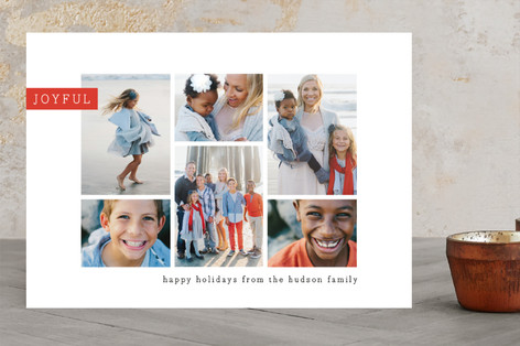 Editorial chic Christmas Photo Cards