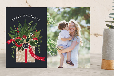 Winter Bouquet Christmas Photo Cards