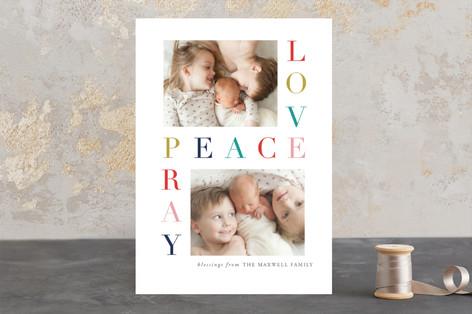 Love Peace Pray Christmas Photo Cards