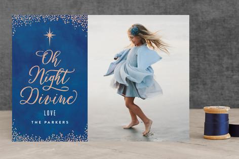 Divine Night Christmas Photo Cards