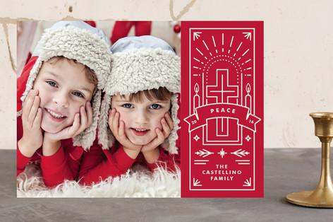 Festive Cross Christmas Photo Cards