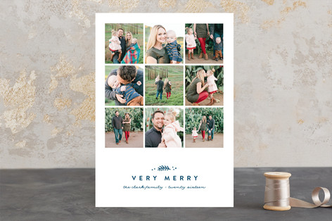 Simple Squares Christmas Photo Cards