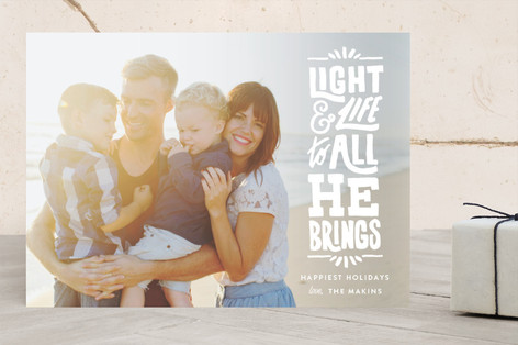 Bright New Life Christmas Photo Cards