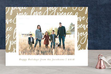 Swash of Joy Christmas Photo Cards