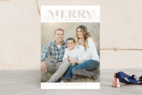 Modern Vintage Christmas Photo Cards