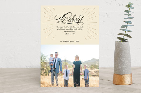Behold Immanuel Christmas Photo Cards