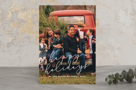 Merriest Script Christmas Photo Cards