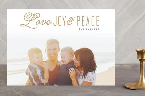 Love Faith & Hope Christmas Photo Cards