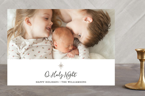 Holy Star Christmas Photo Cards