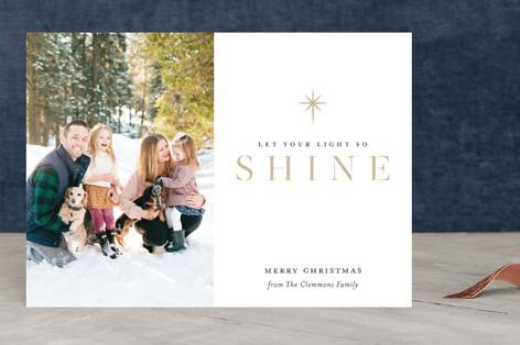 Shine Your Light Christmas Photo Cards