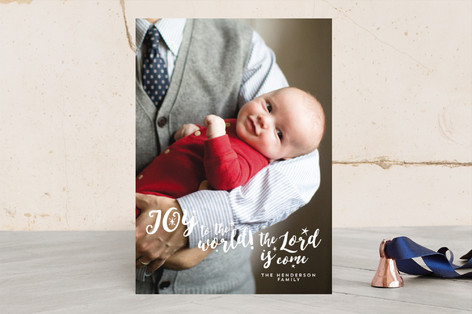 joy to the world the lord is come Christmas Photo Cards