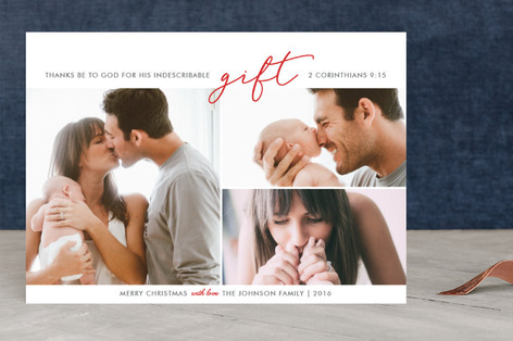 Indescribable Gift Christmas Photo Cards