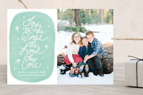 The Lord Has Come Christmas Photo Cards