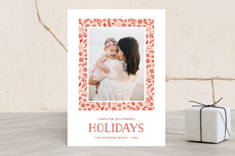 Botanic Frame Christmas Photo Cards