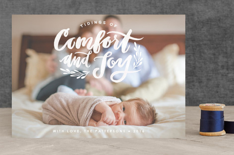 Comfort and Joy Christmas Photo Cards