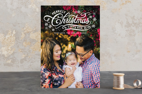 Christmas Hand Script Christmas Photo Cards