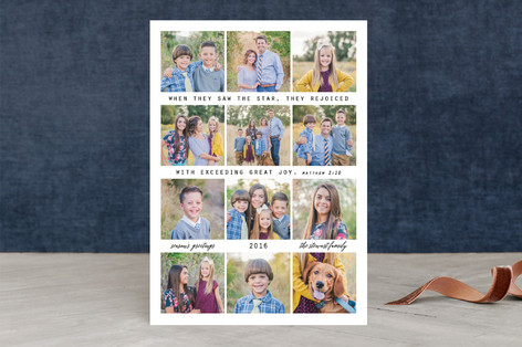 Exceeding Great Joy Christmas Photo Cards