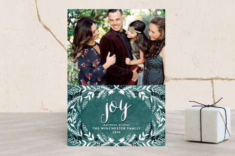 merry foliage Christmas Photo Cards