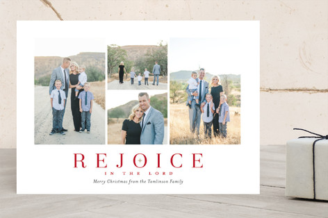 Simply Rejoice Christmas Photo Cards