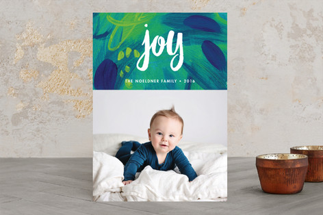 Painted Joy Christmas Photo Cards
