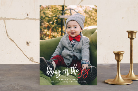 Bring on the Joy Christmas Photo Cards
