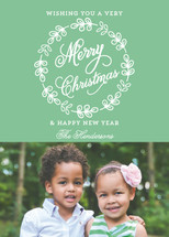Simple Wreath Christmas Photo Cards (Retired)
