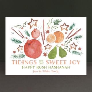 Tidings of Sweet Joy Rosh Hashanah Cards
