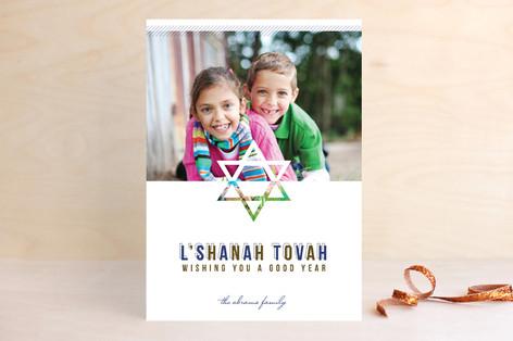 Modern Star Rosh Hashanah Cards