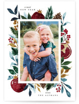 This is a green rosh hashanah card by Beth Schneider called Pomegranate printing on smooth signature in standard.