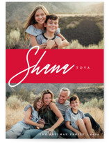 This is a red rosh hashanah card by Liz Conley called So Merry Duo printing on smooth signature in standard.