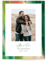 This is a green rosh hashanah card by Erika Firm called Green Flash printing on recycled smooth signature in standard.
