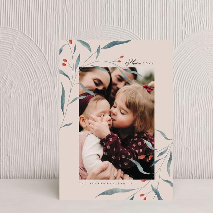 """""""Shana tova branch"""" - Rosh Hashanah Petite Cards in Vanilla Bean by Kann Orasie."""