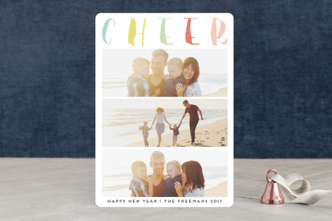 Stacked Cheer New Year's Photo Cards