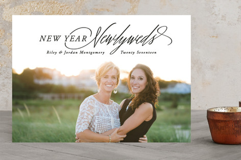 New year, Newlyweds New Year's Photo Cards