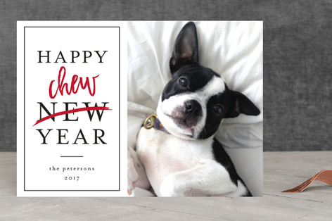Happy Chew Year New Year's Photo Cards