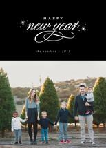 flecks of foil New Year's Photo Cards (Retired)